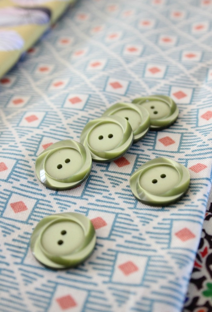 greenish buttons