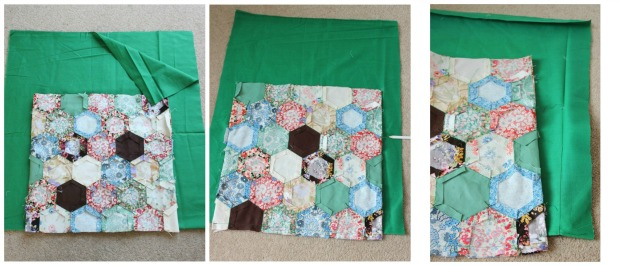 Making the lining for a patchwork knitting bag