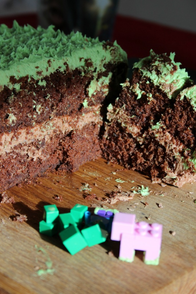 We ate a Minecraft cake.