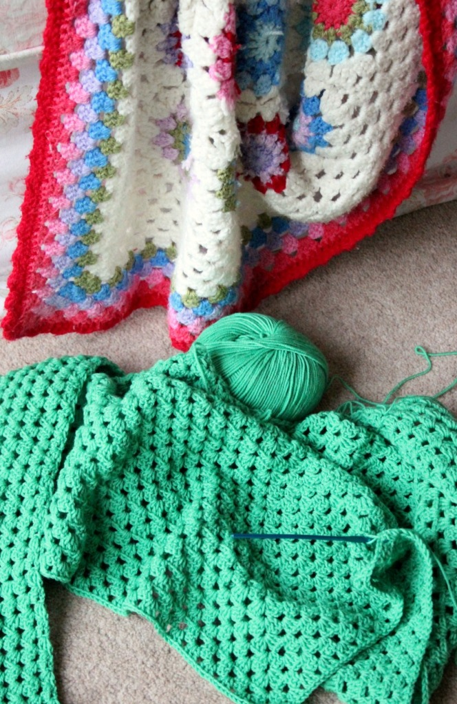 Green crochet wip