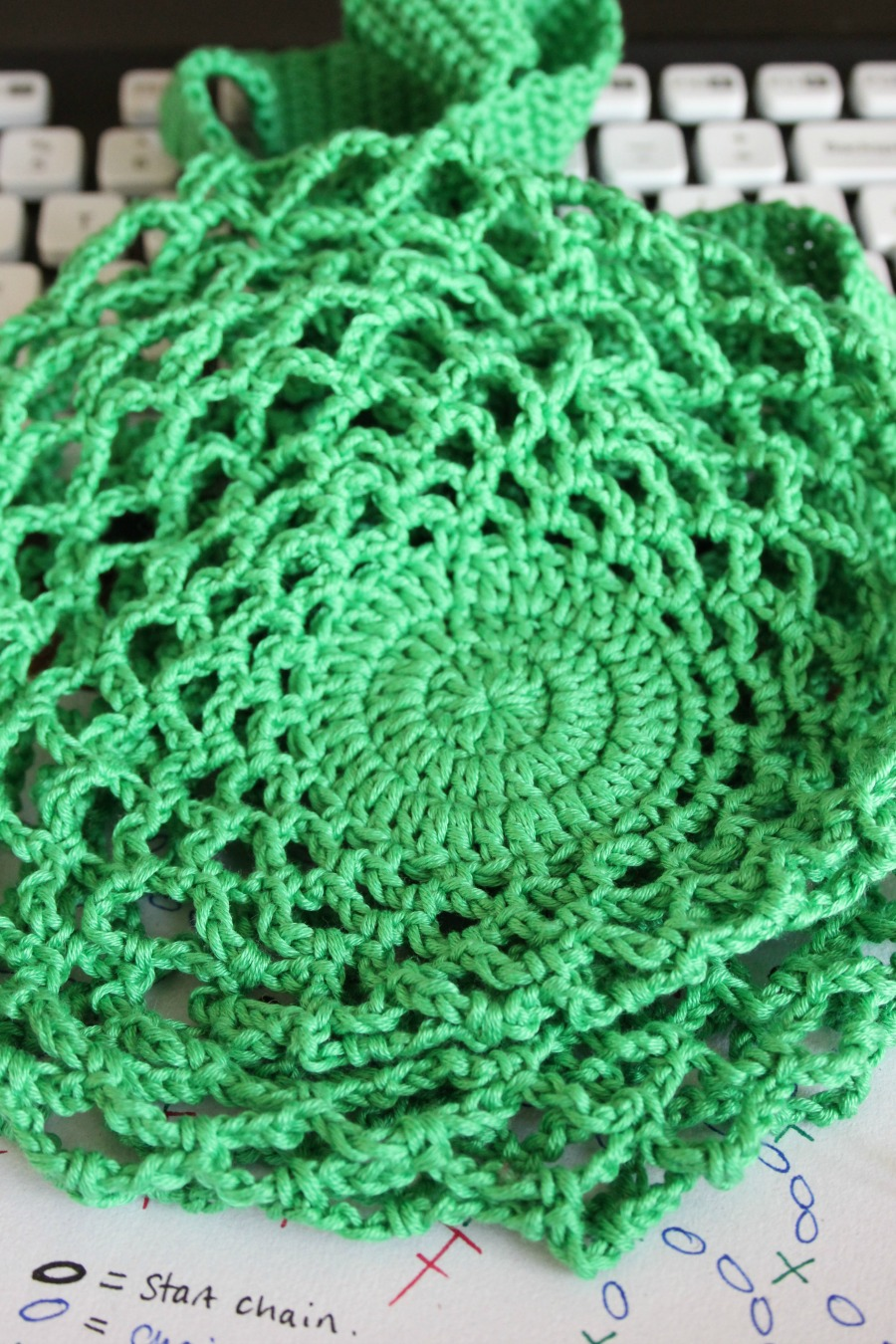 A One Skein Crochet Mesh Bag Free Pattern Zeens And Roger Diagram Patterns For The Bags Bottom