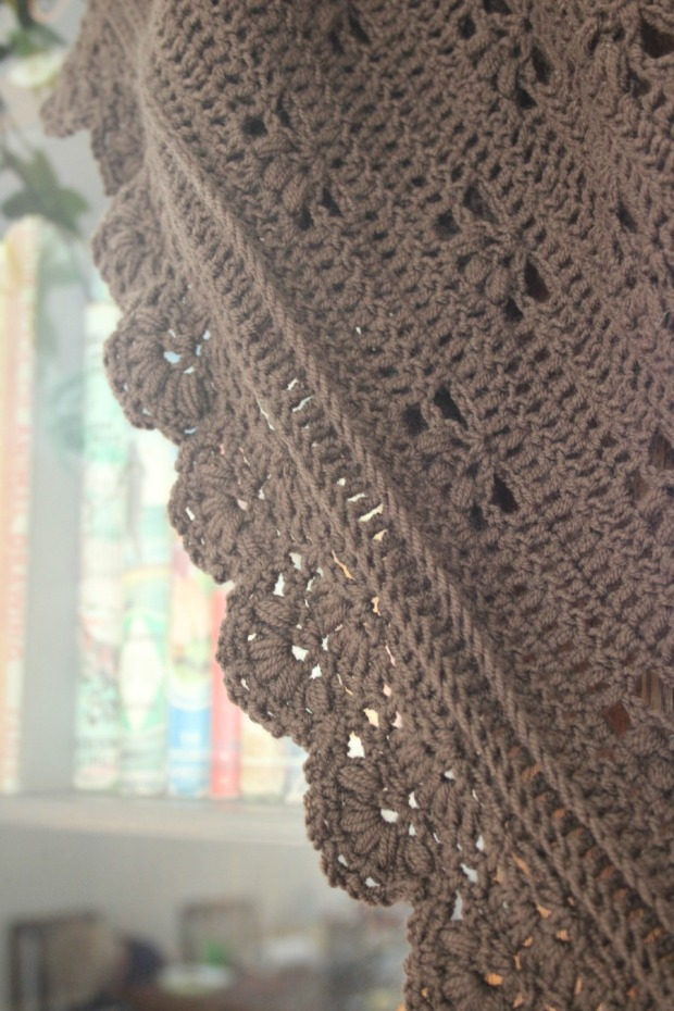 Puffy edged Victoria Shawl.