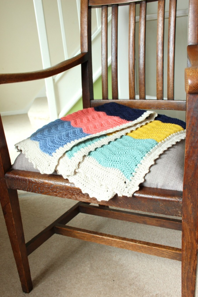 colour block blanket. Easy crochet.