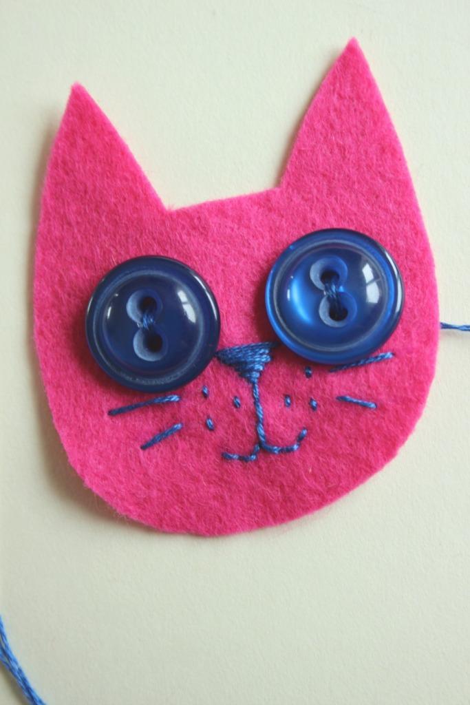 kitty face sewn