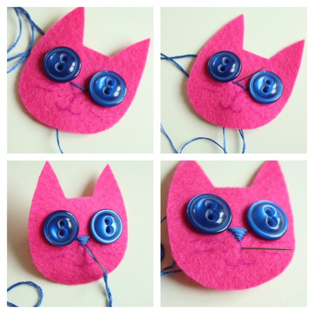 satin stitch nose