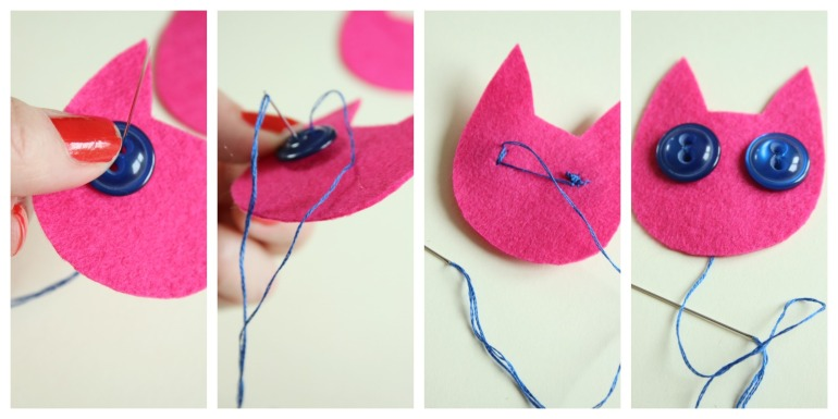 sewing kitty eyes