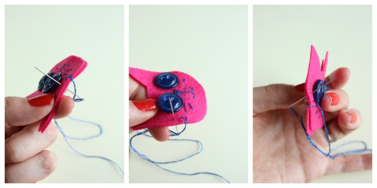 stitching felt pieces together
