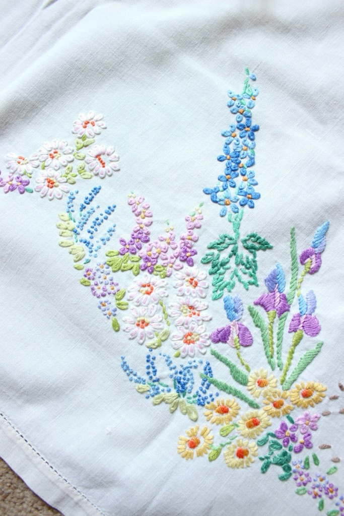 Vintage flower embroidery