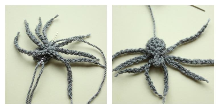 attaching-crochet-spider-legs
