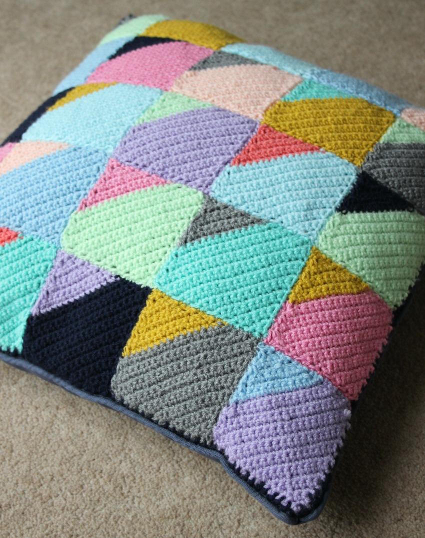 Corner to corner geometric crochet cushion zeens and roger geometric crochet cushion dt1010fo