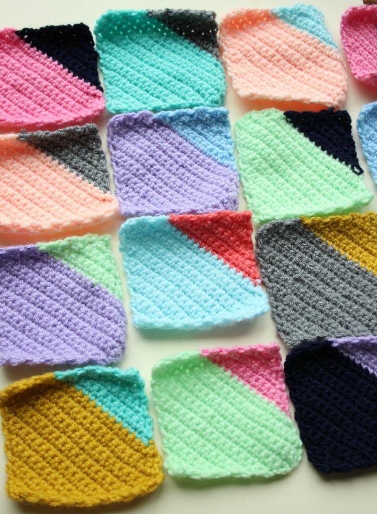 geometric crochet design.
