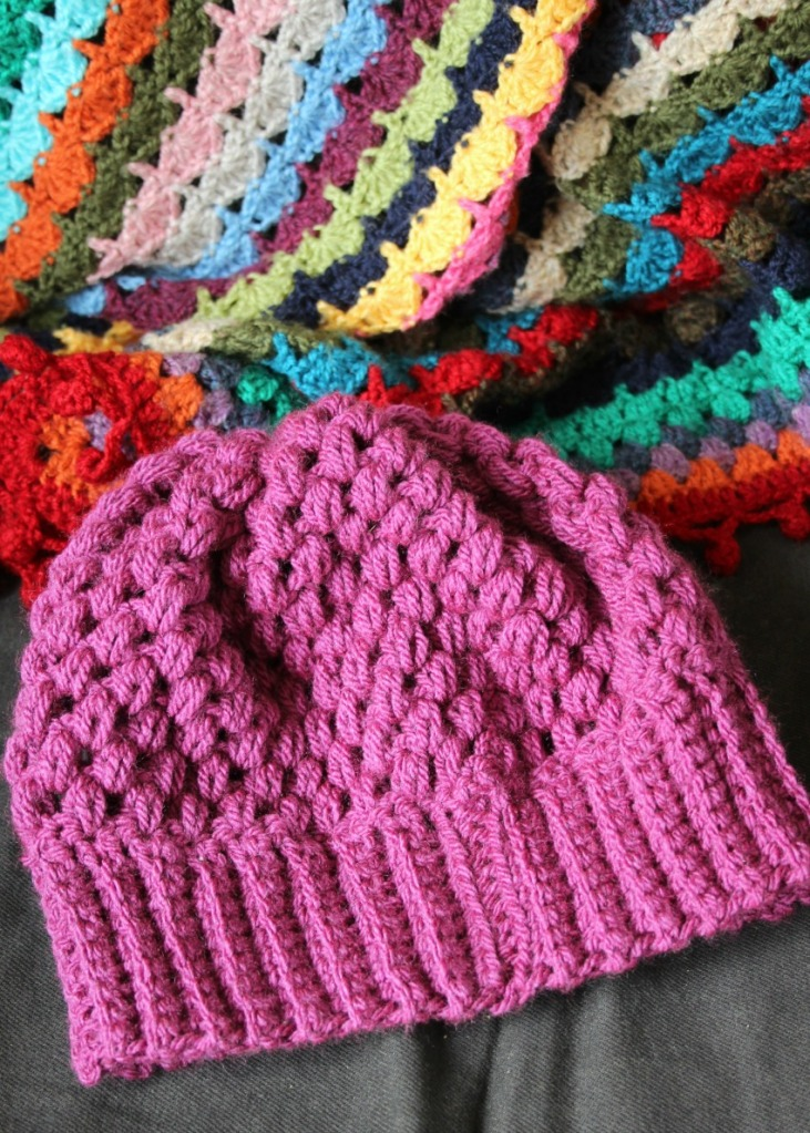 puff stitch hat