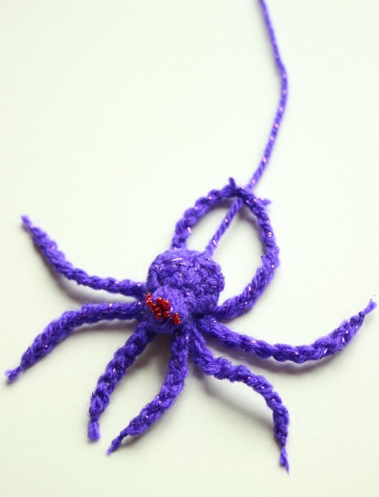 purple-red-eyed-crochet-spider