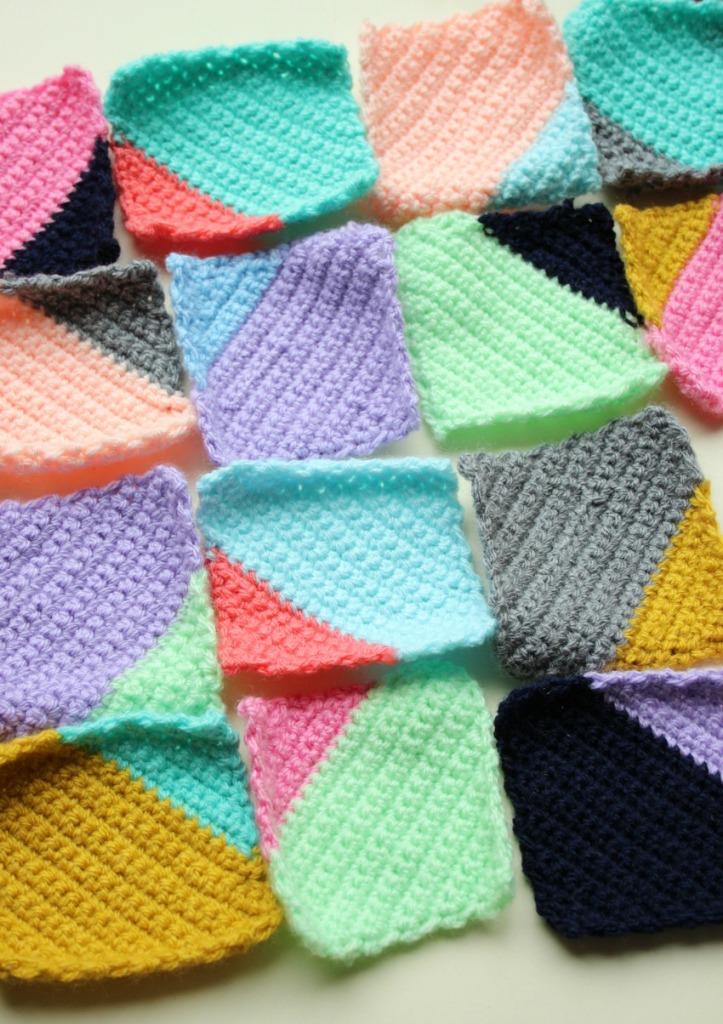simple crochet squares.