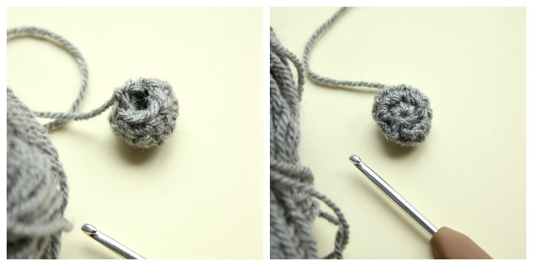 step-one-of-crochet-spider