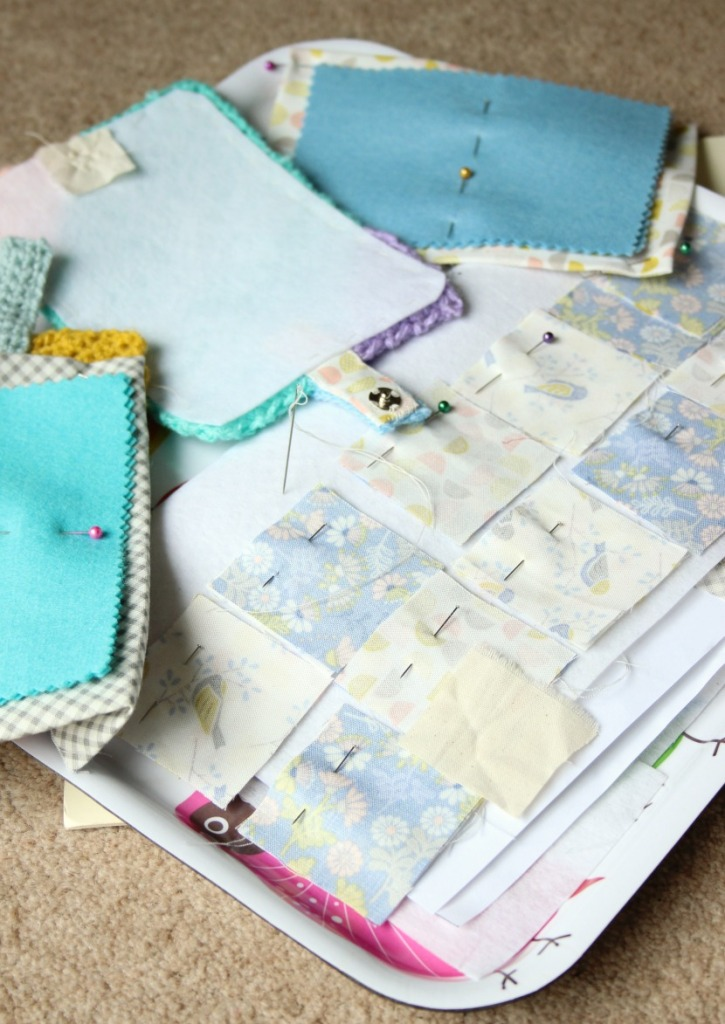 tray of sewing.