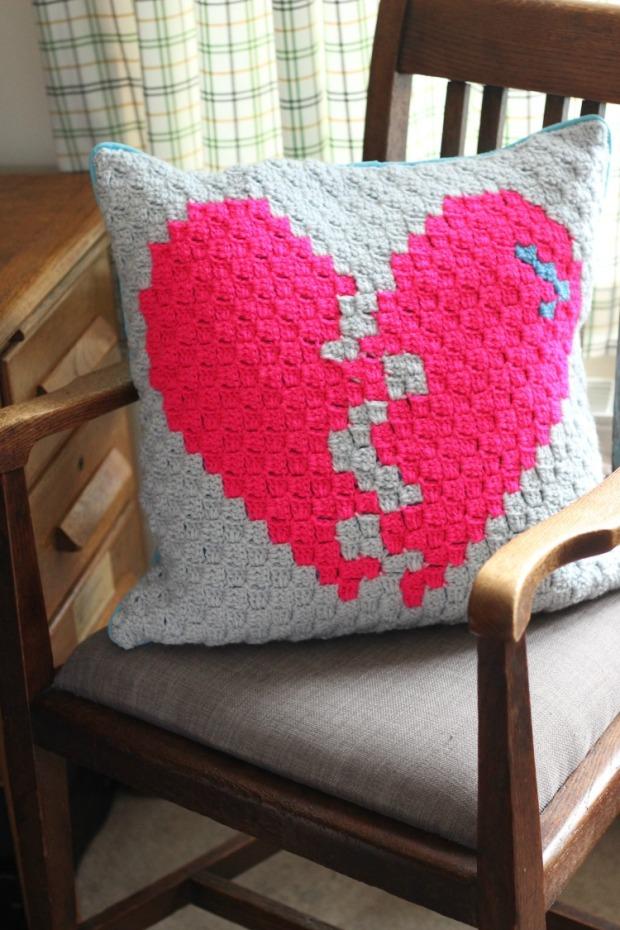 Crochet Broken Heart Corner To Corner Pattern Zeens And Roger