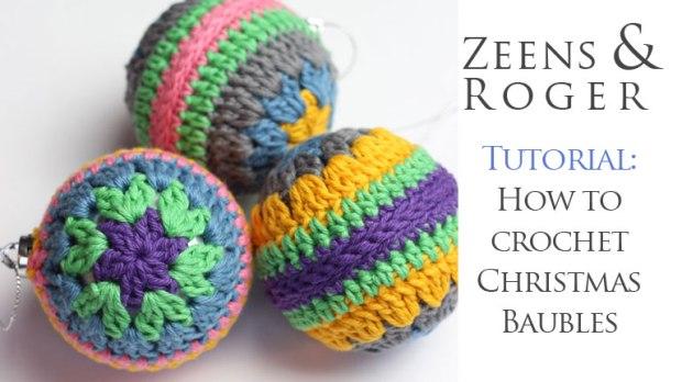 Crochet Christmas Bauble Free Pattern Tutorial Zeens And Roger