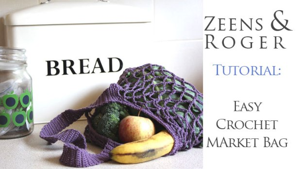 Easy One Skein Crochet Market Bag Free Pattern Zeens And Roger
