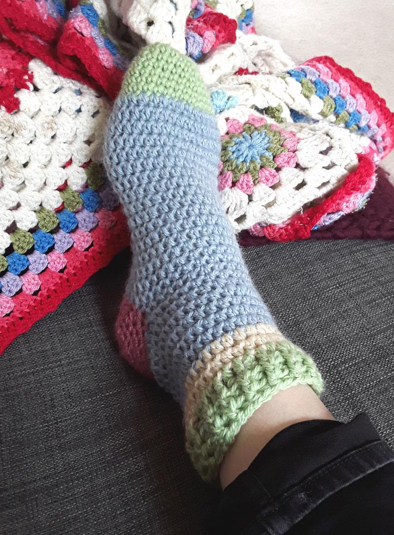 Easy Crochet Slipper Socks Zeens And Roger